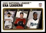 2005 Topps Update #145   -  Roger Clemens / Andy Pettitte / Dontrelle Willis NL ERA Leaders Front Thumbnail