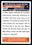 2005 Topps Update #179   -  Miguel Tejada All-Star Back Thumbnail