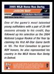 2005 Topps Update #202  Jason Bay  Back Thumbnail