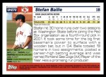 2005 Topps Update #272  Stefan Bailie   Back Thumbnail