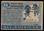 1955 Topps #50  Ken Kavanaugh  Back Thumbnail