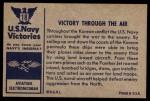 1954 Bowman U.S. Navy Victories #18   Victory Through the Air Back Thumbnail