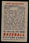 1951 Bowman #185  Jimmy Bloodworth  Back Thumbnail