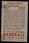 1951 Bowman #222  Thurman Tucker  Back Thumbnail