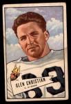 1952 Bowman Small #54  Glen Christian  Front Thumbnail