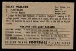 1952 Bowman Small #3  Doak Walker  Back Thumbnail