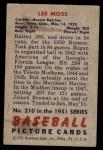 1951 Bowman #210  Les Moss  Back Thumbnail