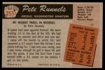 1955 Bowman #255  Pete Runnels  Back Thumbnail