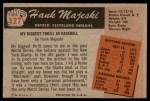 1955 Bowman #127  Hank Majeski  Back Thumbnail