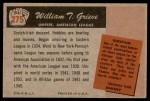 1955 Bowman #275  William Grieve  Back Thumbnail