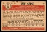 1953 Bowman #94  Bob Addis  Back Thumbnail