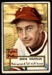 1952 Topps #158 CRM Eddie Waitkus  Front Thumbnail