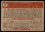 1952 Topps #43  Ray Scarborough  Back Thumbnail