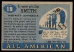 1955 Topps #19  Bruce Smith  Back Thumbnail