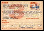 1956 Topps   C3 Contest Card Oct 14 - Eagles vs. Steelers Back Thumbnail
