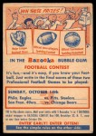 1956 Topps   C3 Contest Card Oct 14 - Eagles vs. Steelers Front Thumbnail