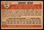 1953 Bowman #131  Connie Ryan  Back Thumbnail