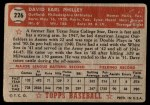 1952 Topps #226  Dave Philley  Back Thumbnail