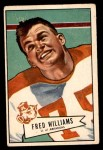 1952 Bowman Small #121  Fred Williams  Front Thumbnail