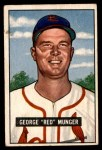 1951 Bowman #11  Red Munger  Front Thumbnail