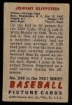 1951 Bowman #248  Johnny Klippstein  Back Thumbnail