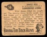 1950 Topps Bring Em Back Alive #16   Jungle War Back Thumbnail