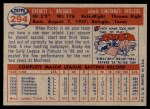 1957 Topps #294  Rocky Bridges  Back Thumbnail
