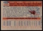 1957 Topps #200  Gil McDougald  Back Thumbnail