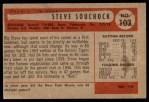 1954 Bowman #103 OF Steve Souchock  Back Thumbnail