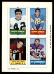 1969 Topps 4-in-1 Football Stamps  Dick Hoak / Roman Gabriel / Dave Williams / Ed Sharockman  Front Thumbnail
