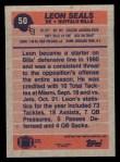 1991 Topps #50  Leon Seals  Back Thumbnail