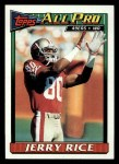 1991 Topps #81  Jerry Rice  Front Thumbnail