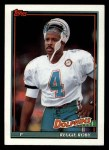 1991 Topps #122  Reggie Roby  Front Thumbnail