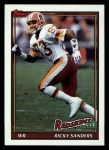 1991 Topps #193  Ricky Sanders  Front Thumbnail