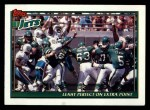1991 Topps #647   -  Pat Leahy / Blair Thomas / Al Toon / Erik McMillan / Dennis Byrd / Kyle Clifton Jets Leaders Front Thumbnail