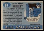 1955 Topps #61  Charley Brickley  Back Thumbnail