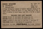 1952 Bowman Large #3  Doak Walker  Back Thumbnail