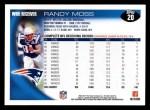 2010 Topps #20  Randy Moss  Back Thumbnail