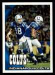 2010 Topps #79   -  Peyton Manning / Dominic Brown Colts Team Front Thumbnail
