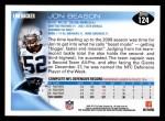 2010 Topps #124  Jon Beason  Back Thumbnail