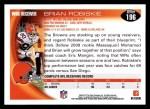 2010 Topps #196  Brian Robiskie  Back Thumbnail