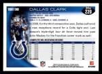 2010 Topps #220  Dallas Clark  Back Thumbnail