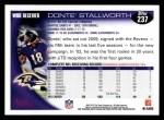 2010 Topps #237  Donte Stallworth  Back Thumbnail