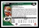 2010 Topps #240  Ryan Grant  Back Thumbnail