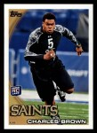 2010 Topps #349  Charles Brown  Front Thumbnail