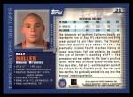 2000 Topps #25  Billy Miller  Back Thumbnail