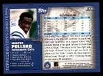 2000 Topps #27  Marcus Pollard  Back Thumbnail