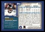 2000 Topps #212  Reggie Barlow  Back Thumbnail