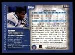 2000 Topps #251  Shawn Springs  Back Thumbnail