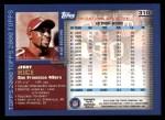 2000 Topps #310  Jerry Rice  Back Thumbnail
